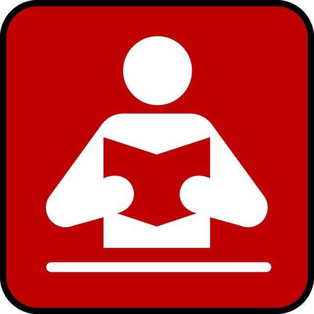 """Symbol: """"Achtung: Vorleser!"""" - Quelle: Pixabay"""