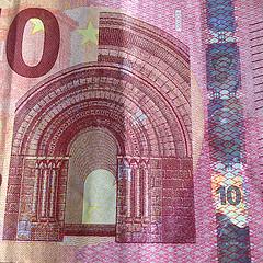 Wasserzeichen auf dem 10-Euro-Geldschein