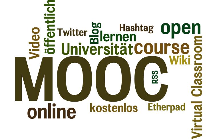 """TagCloud """"MOOC"""" - Quelle: Wordle.net"""
