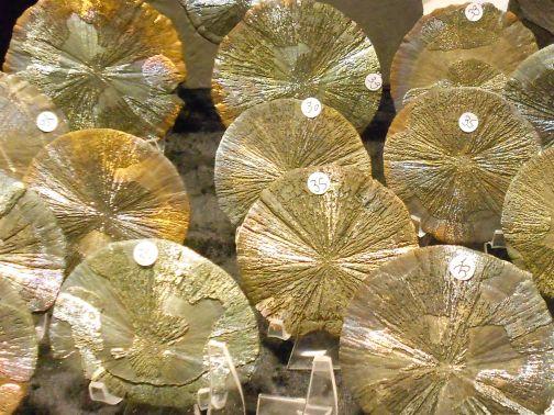 Pyritsonnen - Mineralienbörse 2012, Ennepetal ©Martina Rüter