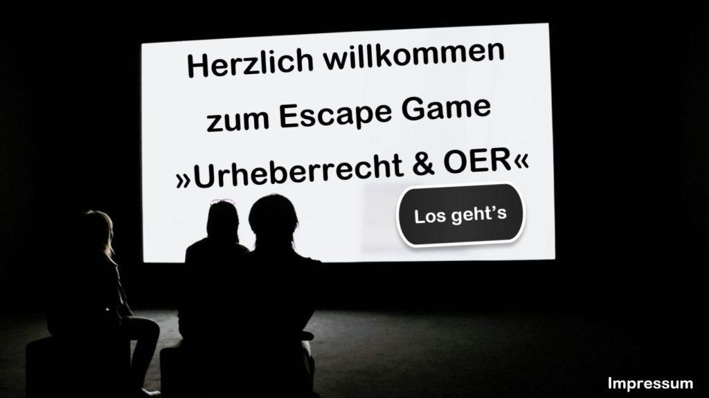 Titelseite Escape Game Urheberrecht & OER