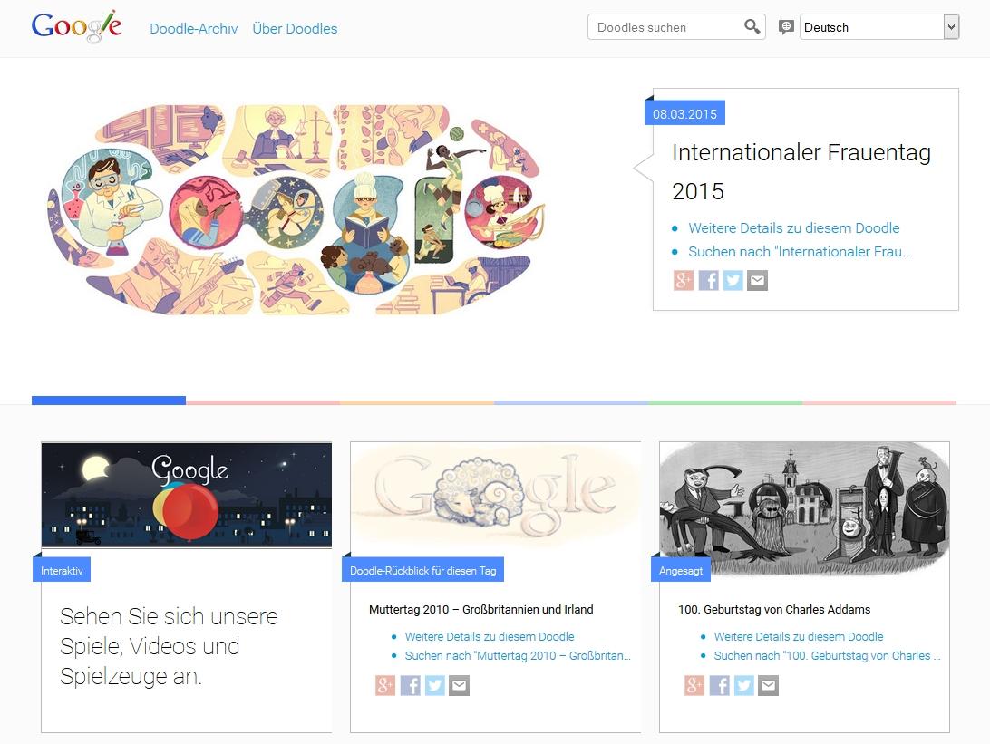Screeenshot Google Doodle am 14.03.2015