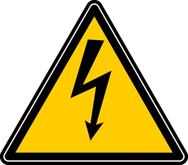 Warnschild: Elektrische Spannung - Quelle: Pixabay