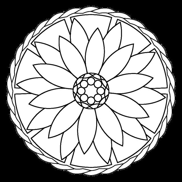 Mandala-Vorlage zum Ausmalen - Quelle: Pixabay