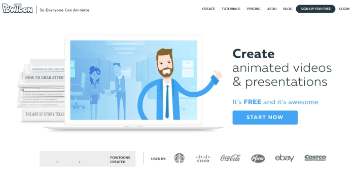 Startseite Powtoon.com