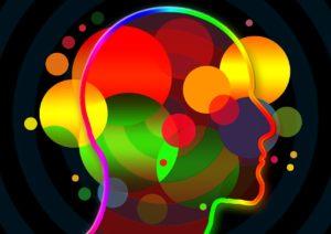 Bild mit Farben im Kopf