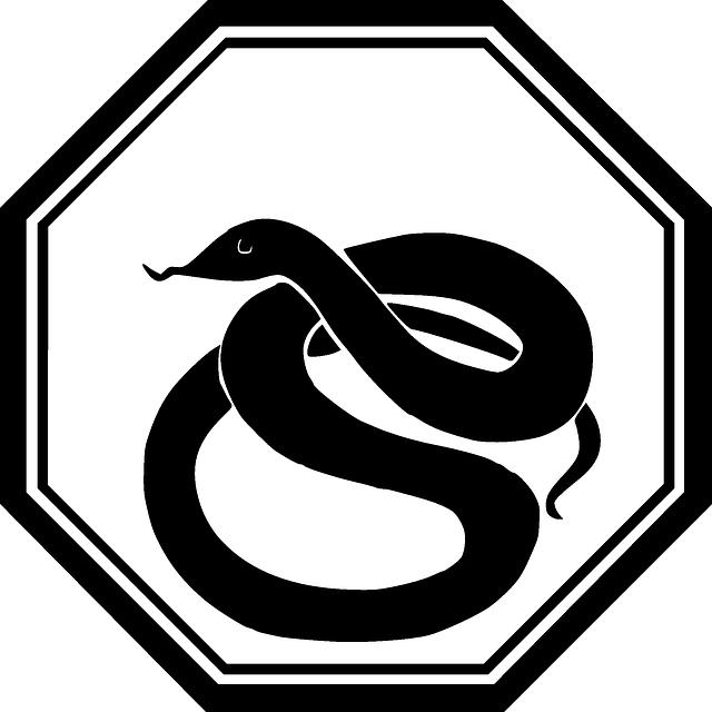 Warnschild: Achtung Schlange! - Quelle: Pixabay